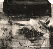 Alice Carpenter 'Landscape 20.7', 2020 Monotypes with handcoloring and scraffito. 4 5/8 x 5 inches  $675