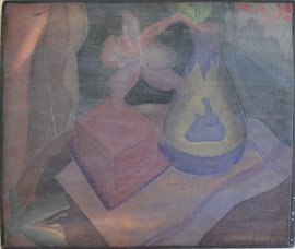 Studio Corner Grace Martin Taylor Woodblock/ Side 2 Block cut 1925 12 x 13 3/4  Sold