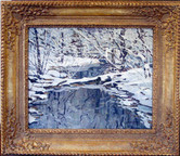 """Walter Schofield """"Winter Quiet"""", c. 1930 Oil on panel 16 x 18 inches Signed lower right: Schofield"""