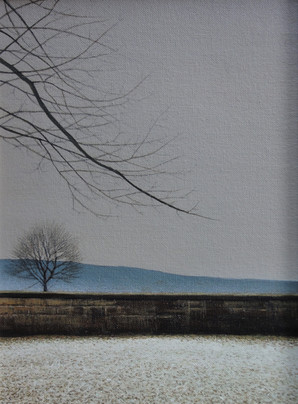 Alan Gough 'A Renick December', 2020 Oil on panel 12 x 9 inches  $1,000