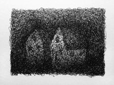 Marc Lincewicz 'Side by Side', 2015 Pen and ink 2 1/2 x 3 1/4 inches $550