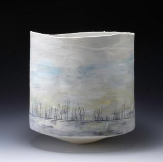 Carol Snyder (Contemporary) 'Schwerin Morning', 2021 Wheelthrown porcelain 7 x 6 1/2 inches  $1,000
