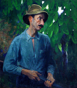 """""""Mountain Man"""", c. 1915-19 Oil on canvas 37 1/2 x 32 1/2 inches P.O.R."""