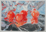 Lowell Tolstedt 'Composition with Cherry Tomatoes', 2006 Color pencil 9 x 13 inches   $4,700