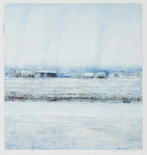 Eric Barth (Contemporary) 'Huddled Together', 2020 Oil pastel and soft pastel on paper 8 1/4 x 8 7/8 inches  $1,500