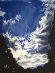 Rod Bouc 'Clouds at Dusk' 2010 Pastel on paper 24 1/2 x 18 3/4 inches P.O.R.