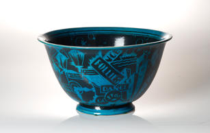 "Viktor Schreckengost (1906-2008) ""Jazz Bowl (The New Yorker)"", circa 1931  9 ¼  x 17 ⅛ inches  P.O.R."