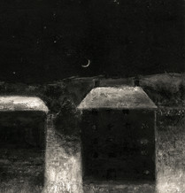 Alice Carpenter 'Waxing Crescent', 2018 Monotype with gouache and scraffito. 5 3/4 x 5 1/2 inches  $850