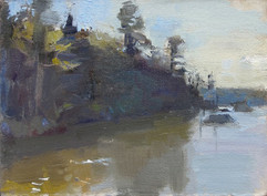 Neil Riley 'Kettle Pond' Oil 5 3/4 x 7 3/4 inches  $800