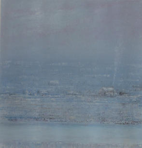Eric Barth (Contemporary) 'This Kind Of Day Has No Night', 2021 Oil pastel and soft pastel on paper 8 3/4 x 8 1/4 inches  $1,500
