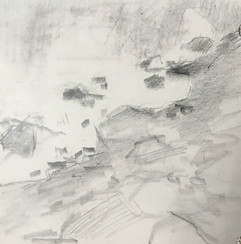 "Neily Riley 'River's Edge', 2014 Graphite on paper. 5"" x 5""  $380"