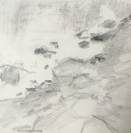 "Neily Riley 'River's Edge', 2014 Graphite on paper. 5"" x 5""  $380"