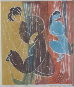 """The Mimic, 1958 Grace Martin Taylor White-line woodblock print Edition 3/49 14.5 x 12 inches Titled, numbered, signed """"Grace Martin Taylor"""" and dated """"19578"""" along margin.  $6,000.00"""