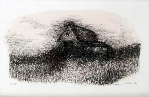 Marc Lincewicz 'Untitled, Rural Home', n/d Ink on paper 3 5/8 x 5 11/16 inches $450