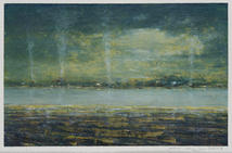 Eric Barth (Contemporary) 'The Heavy Night Sky', 2021 Oil pastel and soft pastel on paper 3 x 4 5/8 inches  $600
