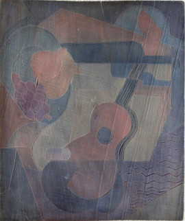 Composition No. 1 Grace Martin Taylor Woodblock/ Side 1 Block Cut 1934 11 7/8 x 13 3/4 inches  On Side 2 of this Woodblock: Torso (Pink Torso)  $4,000.00