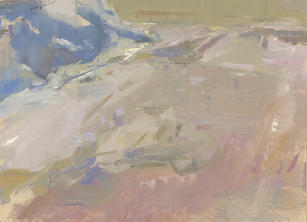 """Neil Riley """"Thaw 2"""", 2020 Oil on board 8 x 6 inches $900"""