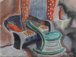 """Studio Greenbrier, 1938 Grace Martin Taylor Watercolor 11 x 15 inches Signed """"Grace Martin Frame"""" lower right.  $2,500.00"""