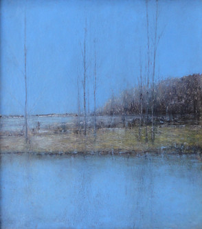 Eric Barth 'Another Deafening Haze', 2012/2018 Oil pastel and soft pastel on paper over panel 13 1/4 x 12 inches  $1,500