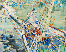 "Alice Schille ""Bow Spirit"", c. 1916-1918 Watercolor 13 1/4 x 16 1/2 inches"