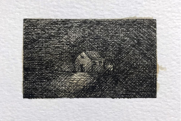 Marc Lincewicz 'Late Night Walk', 2020 Pen & Ink 1 1/2 x 2 1/2 inches P.O.R.