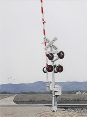 Willard Reader 'Railroad Crossing', 2017 Watercolor 12 x 9 inches  $400