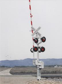 Willard Reader 'Railroad Crossing', 2017 Watercolor 12 x 9 inches  $400