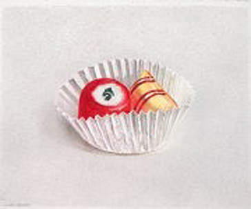 Lowell Tolstedt 'Red and Yellow Hard Candies', 2002 Colored pencil 5 3/4 x 7 1/4 inches  P.O.R.