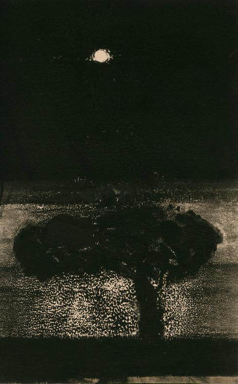 Alice Carpenter 'Landscape 18.5', 2018 Monotype on paper. 7 3/4 x 4 15/16 inches  $750