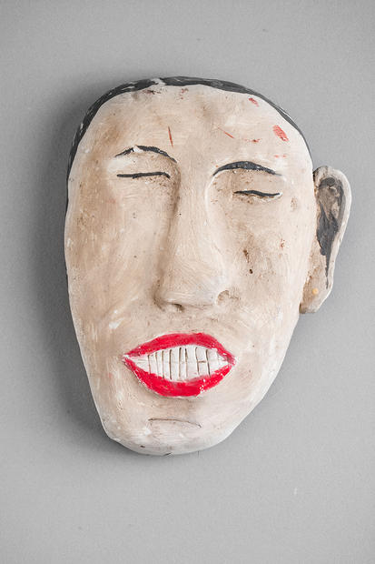 Tamara Jaeger 'Like Jacquy B.', 1991 Ceramic and paint 6 3/4 x 5 x 1 1/2 inches  $450