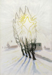 """""""Winter Sun Through the Poplars"""", 1916 Watercolor on paper 20 x 14 inches P.O.R."""