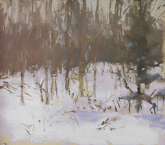 Neil Riley 'Winter Trees, 2' Oil on panel 7 7/8 x 6 7/8 inches  $800