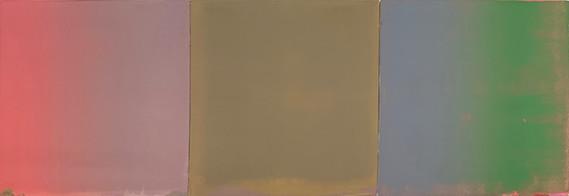 Stephen Pentak 'IX.II', 2019 Oil on panel 14 x 42 inches       $3,800