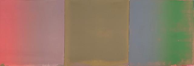 "Stephen Pentak ""IX.II"", 2019 Oil on panel 14 x 42 inches  $3,800"