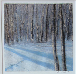 Eric Barth 'In The Shadows', 2015 Oil pastel and soft pastel on paper 7 x 6 3/4 inches  $850