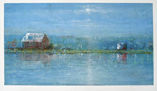 Eric Barth (Contemporary) 'Reflections', 2020 Oil pastel and soft pastel on paper 6 3/4 x 12 inches  $1,650