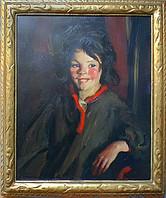 "Robert Henri ""Wee Mischief"", c. 1926 Oil on canvas 24 x 20 inches"