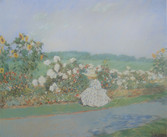 """Childe Hassam """"Summertime"""", 1891 Pastel on paper 20 x 24 inches Signed lower right: Childe Hassam"""
