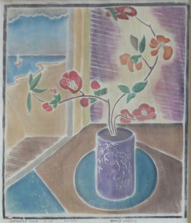 Japanese Vase, 1931/85 White-line woodblock print Edition 1/25 14.5 x 12.25 inches Titles, numbered, signed 'Grace Martin Taylor' and dated along bottom  $6,000.00