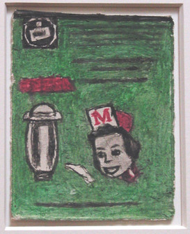 """""""Untitled (Diner, Waitress)"""", n/d Found paper, color of unknown origin, soot Sold"""
