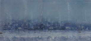 Eric Barth (Contemporary) 'Far From What We Know', 2021 Oil pastel and soft pastel on paper 3 3/8 x 8 3/8 inches  $1,000