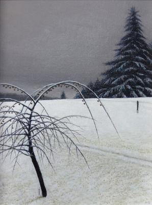 Alan Gough 'December Ornamental', 2018 Oil 12 x 9 inches  Sold