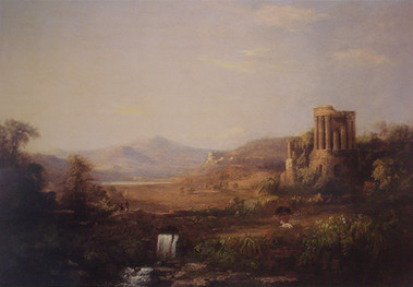Landscape with Classical Ruins (Temple of Sibilla)