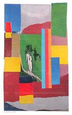 Edmund Kuehn (Historic, 1916-2011) 'Sunlit Garden', 1977 Collage 7 3/4 x 4 3/4 inches  P.O.R.