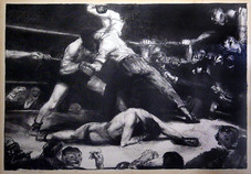 """George Wesley Bellows """"A Knockout, Second State"""", 1921 Lithograph 15 1/3 x 21 3/4 inches Signed and inscribed lower left: Bolton Brown-imp Inscribed loewr center: A Knock Out Signed lower right: Geo Bellows"""