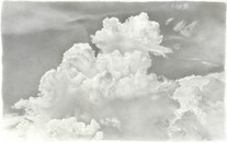 Lowell Tolstedt Clouds/Light', 1992 Silverpoint 6 1/2 x 8 1/2 inches $3,000
