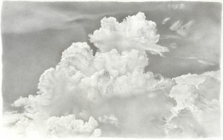 Lowell Tolstedt Clouds/Light', 1992 Silverpoint 6 1/2 x 8 1/2 inches  $2,550