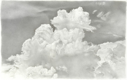 """Lowell Tolstedt """"Clouds/Light"""", 1992 Silverpoint 6 ½ x 8 ½ inches  $3,000"""