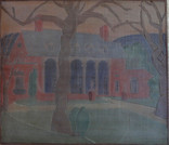 Elizabeth Moore House Grace Martin Taylor Woodblock/ Side 1 11 7/8 x 13 3/4 inches Sold