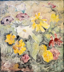 """Blanche Lazzell (1878-1956) """"Sunflowers & Marigolds"""", c.1930 Monotype 14 x 12 inches  P.O.R."""